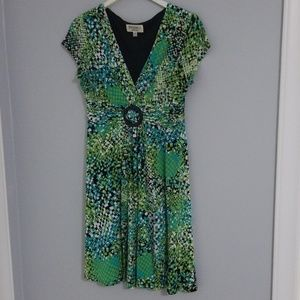 Green midi dress, size 12P